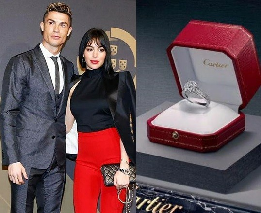 Cristiano Ronaldo Reportedly Engages Girlfriend Georgina Rodriguez With 'Cartier Diamond Engagement Ring' Wo rth N300m Photos